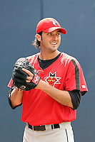 June 12th 2008:  Pitcher Jason Davis of the Indianapolis Indians, Class-AAA affiliate of the Pittsburgh Pirates, during a game at Fifth Third Field in Toledo, OH.  Photo by:  Mike Janes/Four Seam Images