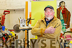 Sculptor Alan Ryan Hall working on his Maquette of Dan 'Dano' O'Keeffe in his studio at Knightstown, Valentia Island.