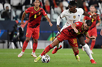 Eden Hazard of Belgium and Paul Pogba of France during the Uefa Nations League semi-final football match between Belgium and France at Juventus stadium in Torino (Italy), October 7th, 2021. Photo Andrea Staccioli / Insidefoto