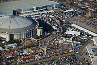 aerial photograph of the Houston Rodeo, Reliant Stadium, Houston, Texas