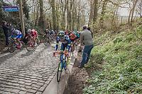 Yoann Offredo (FRA/Wanty Groupe-Gobert) on the Taaienberg<br /> <br /> 72nd Dwars Door Vlaanderen (1.UWT)<br /> 1day race: Roeselare › Waregem BEL (203.4km)