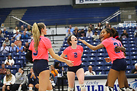 Har-ber celebrates point on Tuesday, October 12, 2021, during play at Wildcat Arena, Springdale. Visit nwaonline.com/211013Daily/ for today's photo gallery.<br /> (Special to the NWA Democrat-Gazette/David Beach)