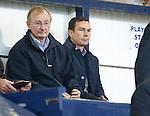 George and Derek Adams watching Rangers