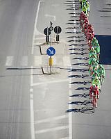 the aligned peloton cruises on<br /> <br /> 107th Milano-Sanremo 2016