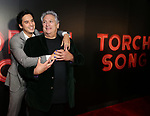 "Michael Hsu Rosen and Harvey Fierstein  attends the Broadway Opening Night After Party for ""Torch Song"" at Sony Hall on November 1, 2018 in New York City."