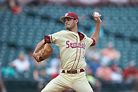 Florida State Seminoles relief pitcher Alec Byrd (31) in action against the North Carolina Tar Heels in the 2017 ACC Baseball Championship Game at Louisville Slugger Field on May 28, 2017 in Louisville, Kentucky. The Seminoles defeated the Tar Heels 7-3. (Brian Westerholt/Four Seam Images)