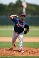 GCL Cardinals pitcher Anthony Trompiz (39) during a Gulf Coast League game against the GCL Marlins on August 12, 2019 at the Roger Dean Chevrolet Stadium Complex in Jupiter, Florida.  GCL Marlins defeated the GCL Cardinals 9-2.  (Mike Janes/Four Seam Images)