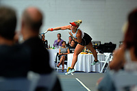 Women's singles final between Paige Hourigan (pictured) and Kelly Southwood. 2019 Wellington Tennis Open finals at Renouf Centre in Wellington, New Zealand on Sunday, 22 December 2019. Photo: Dave Lintott / lintottphoto.co.nz