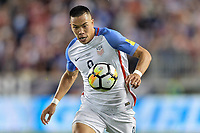 Harrison, N.J. - Friday September 01, 2017:  Bobby Wood at Red Bulls stadium during a 2017 FIFA World Cup Qualifying (WCQ) round match between the men's national teams of the United States (USA) and Costa Rica (CRC) at Red Bull Arena.