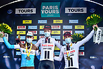 Casper Pedersen (DEN) Team Sunweb wins Paris-Tours 2020, with Benoit Cosnefroy (FRA) AG2R-La Mondiale in 2nd place and Joris Nieuwenhuis (NED) Team Sunweb 3rd, running 213km from Chartres to Tours, France. 11th October 2020.<br /> Picture: ASO/Gautier Demouveaux | Cyclefile<br /> All photos usage must carry mandatory copyright credit (© Cyclefile | ASO/Gautier Demouveaux)