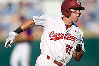 South Carolina's Evan Marzilli in Game 14 of the NCAA Division One Men's College World Series on June 26th, 2010 at Johnny Rosenblatt Stadium in Omaha, Nebraska.  (Photo by Andrew Woolley / Four Seam Images)