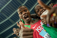 2nd May 2021; Silesian Stadium, Chorzow, Poland; World Athletics Relays 2021. Day 2; Kenyan athlete Matthew celebrates his silver medal with a thumbs up to the camera after coming second in the mens 4 x 200