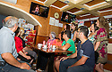 Locals gather in Bar Centrale in Picinisco, to watch Doctor Who on Italian TV station RAI 4.
