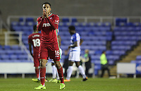 Martin Olsson of Swansea City after the final whistle of the Carabao Cup Third Round match between Reading and Swansea City at Madejski Stadium, Reading, England, UK. Tuesday 19 September 2017