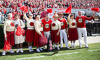 The Georgia Bulldogs beat the App State Mountaineers 45-6 in their homecoming game.  After a close first half, UGA scored 31 unanswered points in the second half.  Georgia alumni