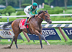 August 23, 2014: Artemis Argotera, ridden by Rajiv Maragh, wins the Ballerina Stakes on Travers Stakes Day at Saratoga Race Course in Saratoga Springs, New York. Scott Serio/ESW/CSM