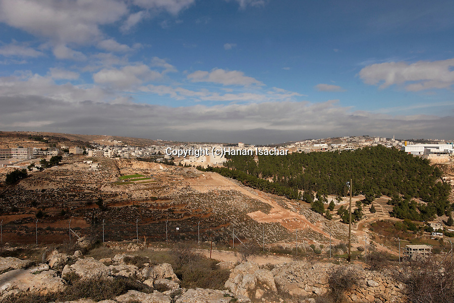 Judea, Hebron Mountain. A view of Solomon's Pools from settlement Givat Hadagan