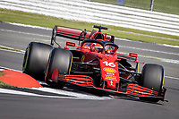 18th July 2021; Silverstone Circuit, Silverstone, Northamptonshire, England; Formula One British Grand Prix, Race Day; Scuderia Ferrari Mission Winnow driver Charles Leclerc in his Ferrari SF21 Ferrari 065/6 leads the race