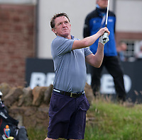 7th July 2021; North Berwick, East Lothian, Scotland; Sir AP McCoy on the 6th tee during the Celebrity Pro-Am at the abrdn Scottish Open at The Renaissance Club, North Berwick, Scotland.