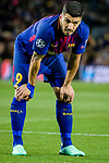 Luis Alberto Suarez Diaz of FC Barcelona reacts during the UEFA Champions League 2017-18 quarter-finals (1st leg) match between FC Barcelona and AS Roma at Camp Nou on 05 April 2018 in Barcelona, Spain. Photo by Vicens Gimenez / Power Sport Images