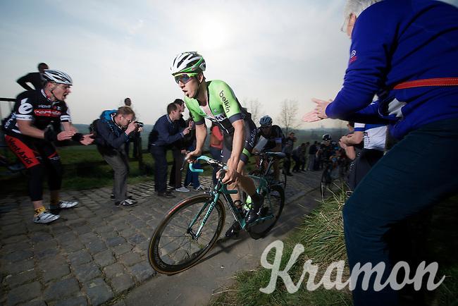 Sep Vanmarcke (BEL/Belkin) up the Paterberg (max 20%)<br /> <br /> 57th E3 Harelbeke 2014