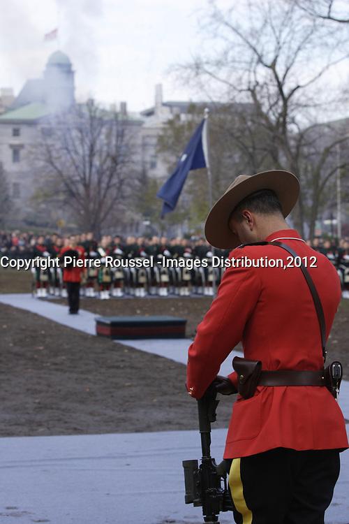 Nov 11, 2012 - Montreal, Quebec, CANADA -  Remembrance Day -
