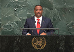 72 General Debate – 23rd of September  2017<br /> <br /> H.E. Mark Anthony BRANTLEY<br /> <br /> Minister for Foreign Affairs and<br /> Aviation of<br /> SAINT KITTS AND NEVIS