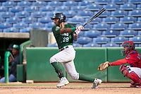 Daytona Tortugas Reyny Reyes (29) bats during a game against the Clearwater Threshers on June 24, 2021 at BayCare Ballpark in Clearwater, Florida.  (Mike Janes/Four Seam Images)