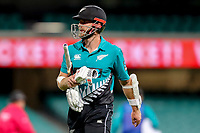13th March 2020, Sydney Cricket Ground, Sydney, Australia;  Kane Williamson of the Blackcaps walks off after being bowled. International One Day Cricket. Australia versus New Zealand Blackcaps, Chappell–Hadlee Trophy, Game 1.
