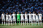 Players of Real Madrid line up and pose for photos prior to the La Liga match between Real Madrid and Atletico de Madrid at the Santiago Bernabeu Stadium on 08 April 2017 in Madrid, Spain. Photo by Diego Gonzalez Souto / Power Sport Images