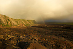 Sunrise with clouds on the south of la Réunion nearby le Tremblet. This lava field was emited by La Fournaise volcanoe in  april 2007