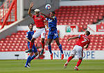 19.09.20 - Nottingham Forest v Cardiff - Sky Bet Championship - Curtis Nelson of Cardiff and Lyle Taylor of Nottingham Forest