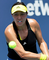 MIAMI GARDENS, FL - MARCH 28: (NO SALES TO NEW YORK POST) Jessica Pegula of the United States defeats Karolina Pliskova of Czech on day 7 of the Miami Open on March 28, 2021 at Hard Rock Stadium in Miami Gardens, Florida<br /> <br /> <br /> People:  Jessica Pegula