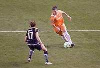 Liz Bogus of LA Sol marks Sky Blue FC midfielder Yael Averbuch. The LA Sol defeated Sky Blue FC 1-0 at Home Depot Center stadium in Carson, California on Friday May 15, 2009.   .