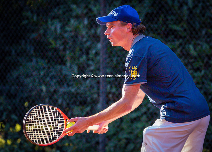 Hilversum, The Netherlands,  August 18, 2020,  Tulip Tennis Center, NKS, National Senior Championships, Men's  Single 40+,  Levien Rademaker (NED)<br /> Photo: www.tennisimages.com/Henk Koster