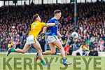 David Clifford, Kerry in action against David Toner, Meath during the Allianz Football League Division 1 Round 4 match between Kerry and Meath at Fitzgerald Stadium in Killarney, on Sunday.