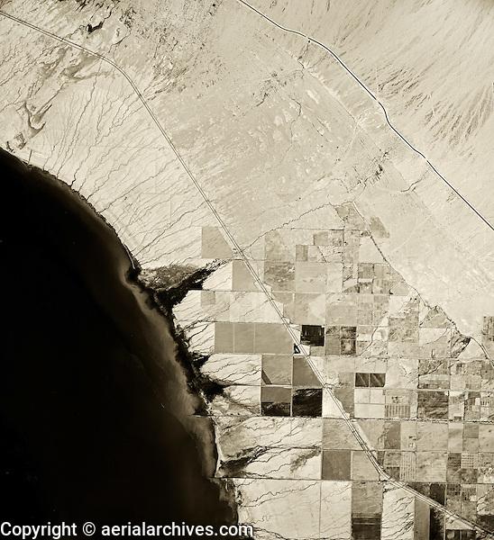 historical infrared aerial photograph of Salton Sea, California,1954