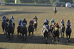 Nov. 03, 2012 - Arcadia, California, U.S -Trinniberg (third from right) ridden by Willie Martinez and trained by Shivananda Parbhoo, wins the Xpressbet Breeders' Cup Sprint at Santa Anita Park in Arcadia, CA. (Credit Image: © Jimmy Jones/Eclipse/ZUMAPRESS.com)