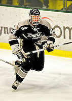 5 February 2011: Providence College Friar defenseman Myles Harvey, a Sophomore from Orlando, FL in action against the University of Vermont Catamounts at Gutterson Fieldhouse in Burlington, Vermont. The Catamounts defeated the Friars 7-1 in the second game of their weekend series. Mandatory Credit: Ed Wolfstein Photo