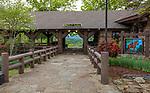 Petit Jean State Park, Arkansas: Mather Lodge in spring
