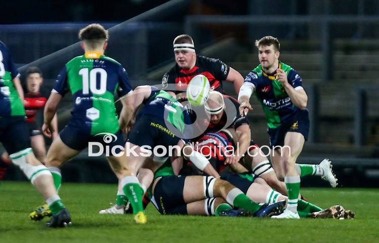 Friday 6th March 2020   Armagh RFC vs Ballynahinch RFC<br /> <br /> Aaron Cairns during the Bank Of Ireland Ulster Senior Cup Final between the City of Armagh RFC and Ballynahinch RFC at Kingspan Stadium, Ravenhill Park, Belfast, Northern Ireland. Photo by John Dickson / DICKSONDIGITAL