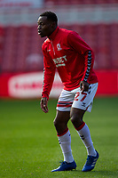 13th March 2021; Riverside Stadium, Middlesbrough, Cleveland, England; English Football League Championship Football, Middlesbrough versus Stoke City; Marc Bola of Middlesbrough pre game warm up