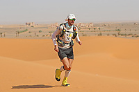 4th October 2021; Tisserdimine to Kourci Dial Zaid;  Marathon des Sables, stage 2 of  a six-day, 251 km ultramarathon, which is approximately the distance of six regular marathons. The longest single stage is 91 km long. This multiday race is held every year in southern Morocco, in the Sahara Desert. Theo Wynsberghe (FRA) in the dunes