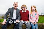 Ronan, Ronán and Hannah Redican at their home in Ballyroe