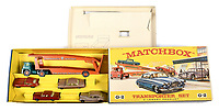 BNPS.co.uk (01202) 558833<br /> Pic: VectisAuctions/BNPS<br /> <br /> Pictured: Matchbox Regular Wheels G-2 Car Transporter gift set sold for  £2,040<br /> <br /> A man who spent 30 years building an epic collection of Matchbox toy cars is celebrating today after it sold for £480,000.<br /> <br /> Graham Hamilton, 55, fell in love with the miniature toys as a child and would put them back in their boxes after playing with them.<br /> <br /> He began collecting seriously in his early 20s after retrieving a box of his treasured toys from his parents' loft.<br /> <br /> Graham spent over £100,000 acquiring 1,800 Matchbox cars, which was virtually every one made at Matchbox's old Lesney factory in London<br /> between 1962 and 1982.