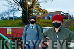 Luke and Eugene Cleary, Tarbert at Tarbert Comprehensive school on Wednesday.