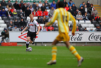 ATTENTION SPORTS PICTURE DESK<br /> Pictured: Alan Tate of Swansea City in action<br /> Re: Coca Cola Championship, Swansea City Football Club v Newcastle United at the Liberty Stadium, Swansea, south Wales. 13 February 2010