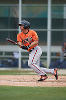 Baltimore Orioles Nick Horvath (35) bats during a Minor League Spring Training game against the Tampa Bay Rays on March 16, 2019 at the Buck O'Neil Baseball Complex in Sarasota, Florida.  (Mike Janes/Four Seam Images)