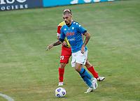 Gianluca Gaetano durante il Triangolare precampionato nel ritiro estivo  tra Napoli , L'Aquila e il Castel Di Sangro allo stadio Patini