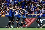 FC Internazionale Forward Stevan Jovetic (L) celebrating his goal with his teammates during the International Champions Cup 2017 match between FC Internazionale and Chelsea FC on July 29, 2017 in Singapore. Photo by Marcio Rodrigo Machado / Power Sport Images